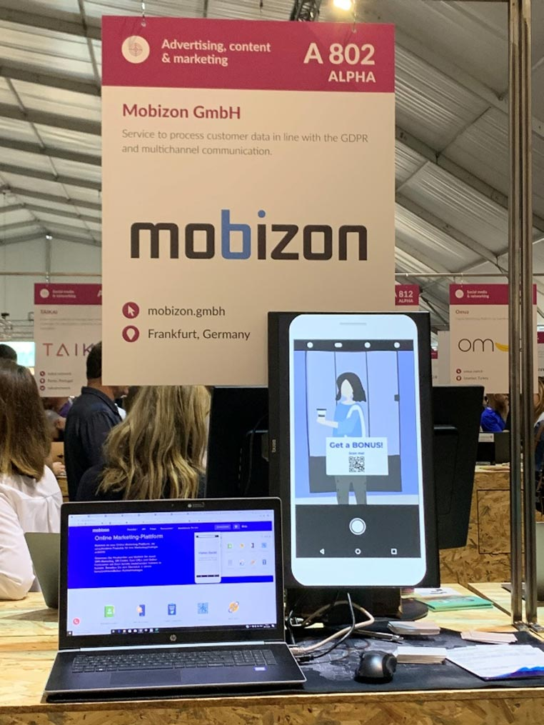 Web Summit 2019 - Стенд Mobizon