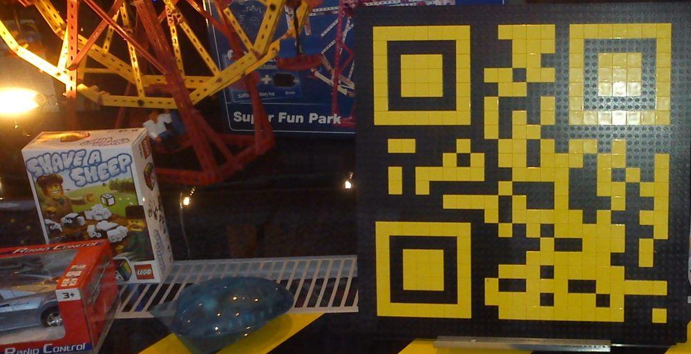 Пример использования QR-кодов компанией Lego